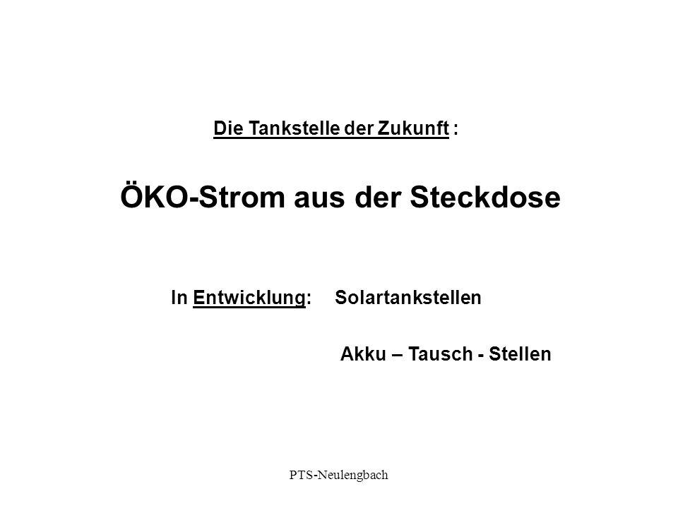 Die Tankstelle der Zukunft : ÖKO-Strom aus der Steckdose In Entwicklung:Solartankstellen Akku – Tausch - Stellen PTS-Neulengbach