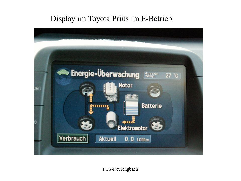 Display im Toyota Prius im E-Betrieb PTS-Neulengbach