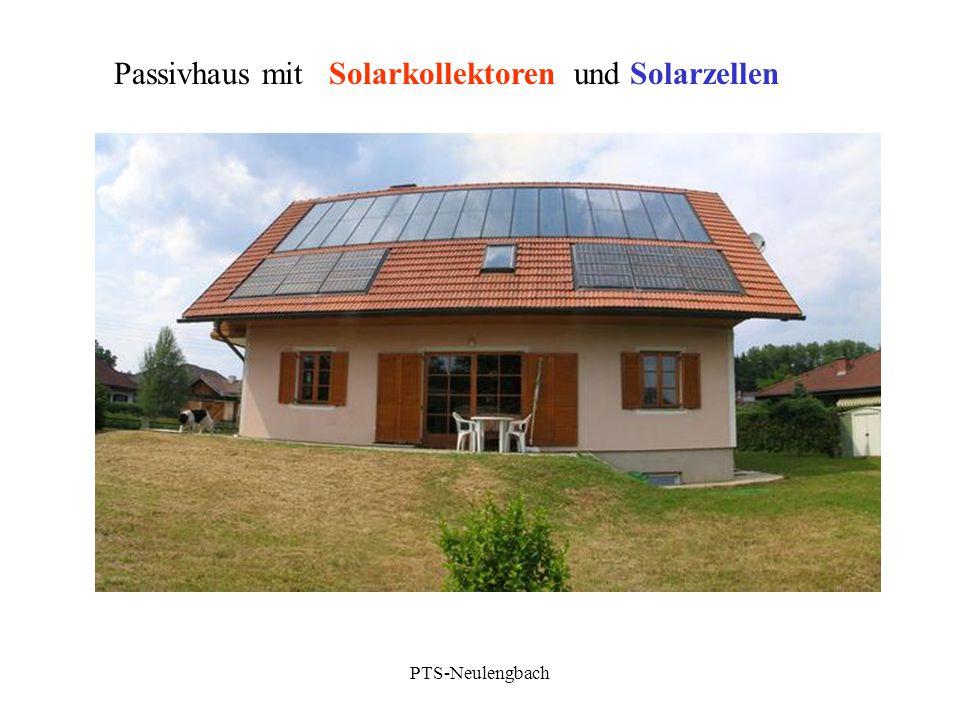 Passivhaus mit Solarkollektoren und Solarzellen PTS-Neulengbach
