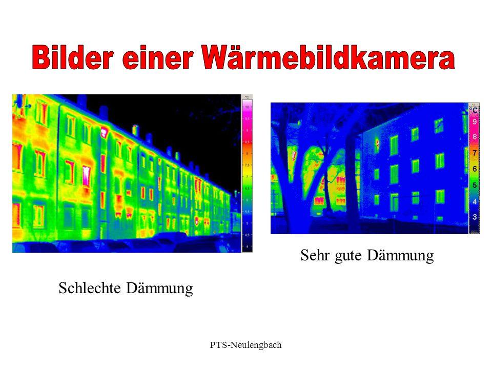 Sehr gute Dämmung Schlechte Dämmung PTS-Neulengbach