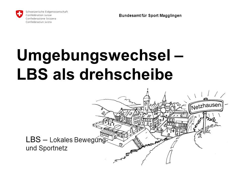 Bundesamt für Sport Magglingen Umgebungswechsel – LBS als drehscheibe LBS – Lokales Bewegung- und Sportnetz
