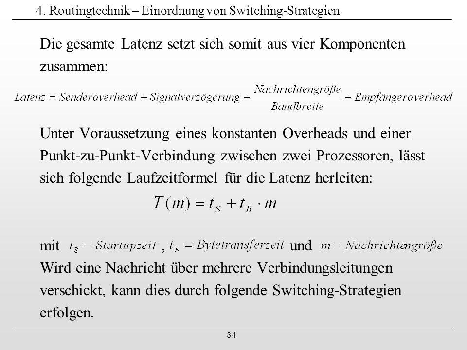 85 4.Routingtechnik – Einordnung von Switching-Strategien Illustration aus Rauber, T.