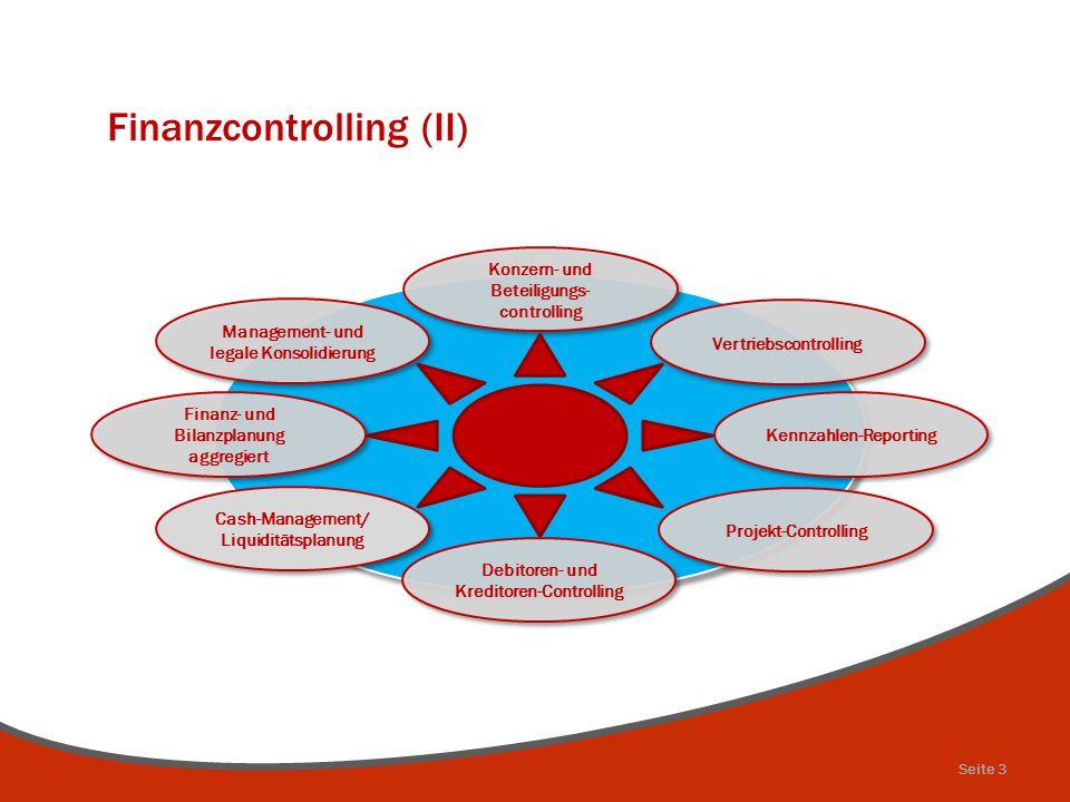 Finanzcontrolling (II) Cash-Management/ Liquiditätsplanung Finanz- und Bilanzplanung aggregiert Management- und legale Konsolidierung Konzern- und Bet
