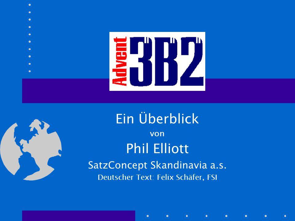 Automatisierung Mit 3B2 und seiner internen Programmiersprache können vollautomatische Umbruch- und Seiten-Gestaltungsmaschinen hergestellt werden: –Dynamische Verarbeitung von SGML/XML-ausge- zeichneten Daten.