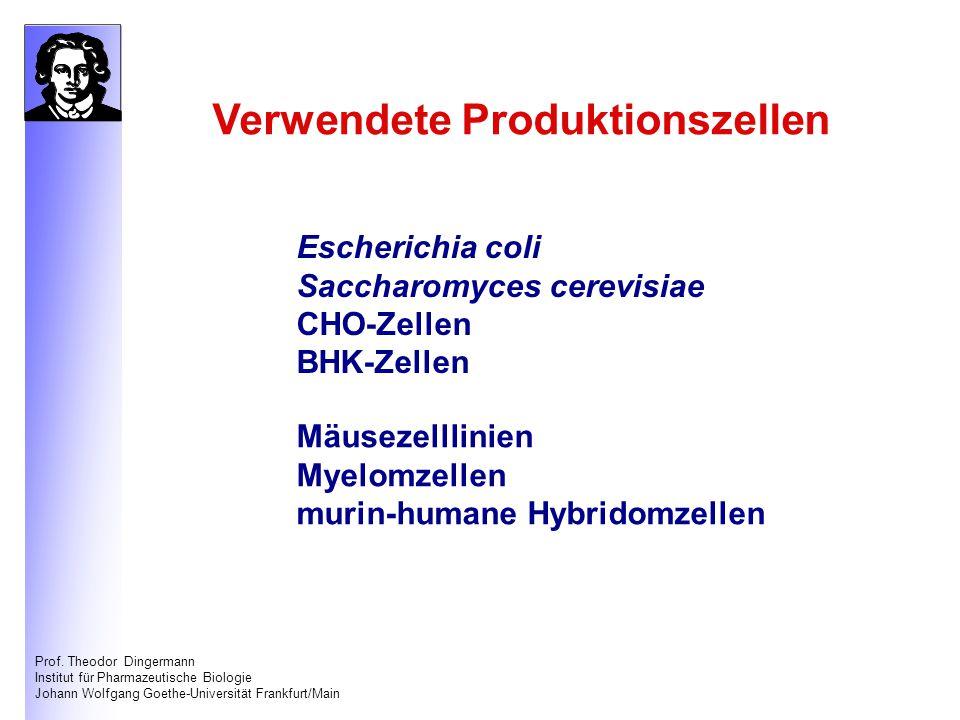Prof. Theodor Dingermann Institut für Pharmazeutische Biologie Johann Wolfgang Goethe-Universität Frankfurt/Main Escherichia coli Saccharomyces cerevi