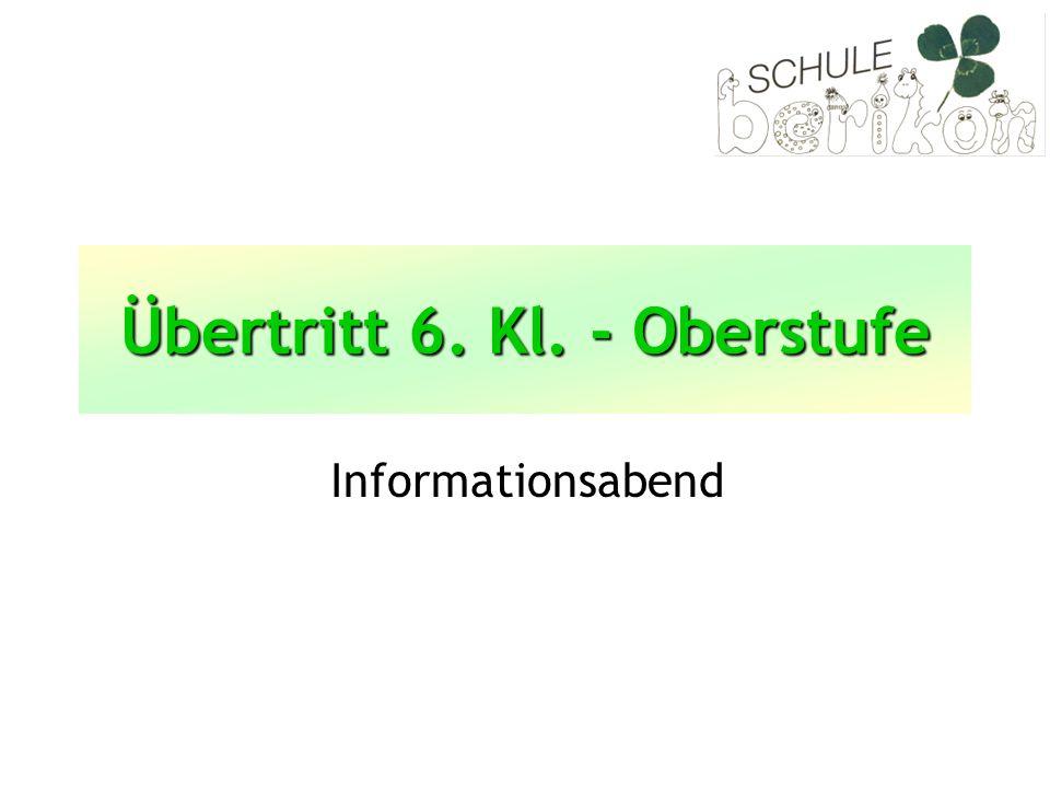 Programm Aufbau der Schule Aargau Klasseninterne Informationen Verfahren für den Übertritt in die Oberstufe