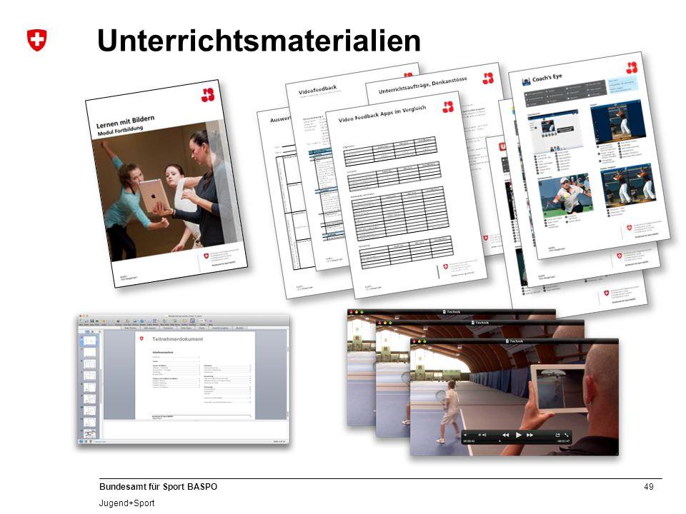49 Bundesamt für Sport BASPO Jugend+Sport Unterrichtsmaterialien