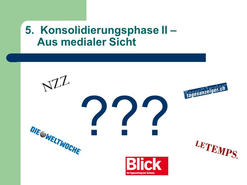 5. Konsolidierungsphase II – Aus medialer Sicht ???