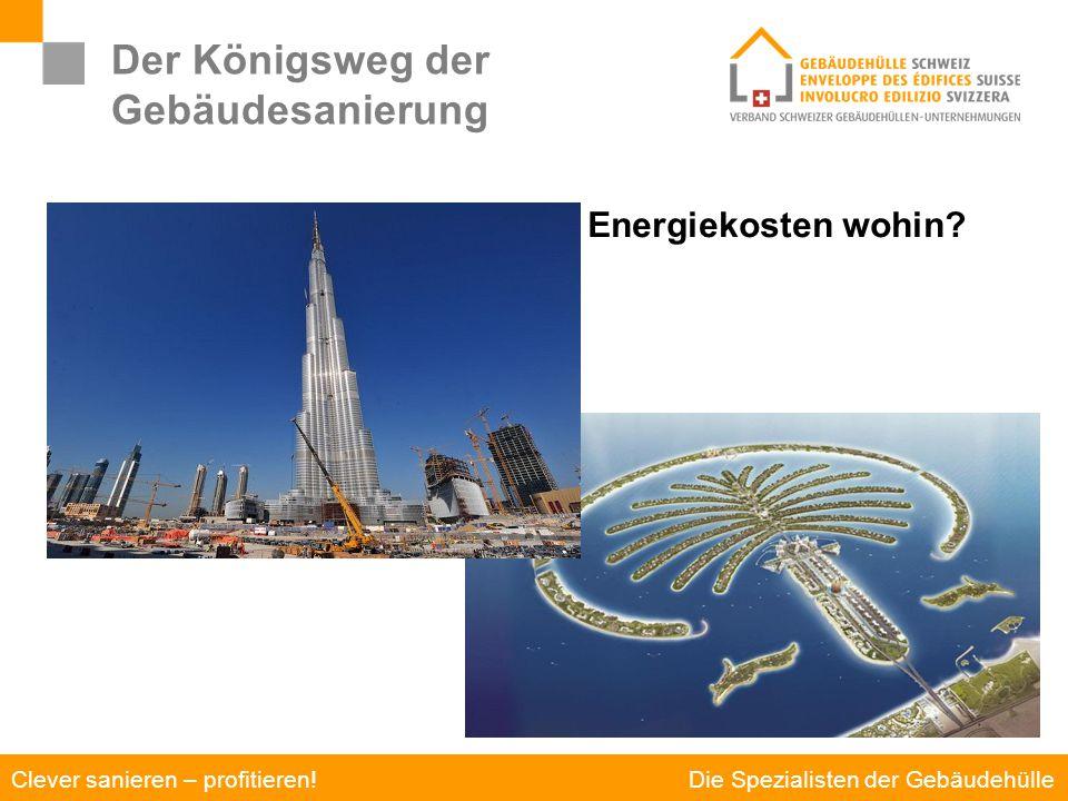 Die Spezialisten der Gebäudehülle Clever sanieren – profitieren! Der Königsweg der Gebäudesanierung Energiekosten wohin?