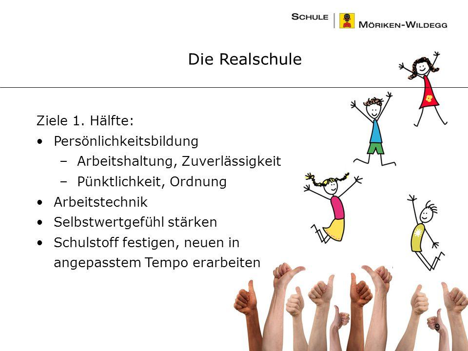 9 Die Realschule Ziele 1.