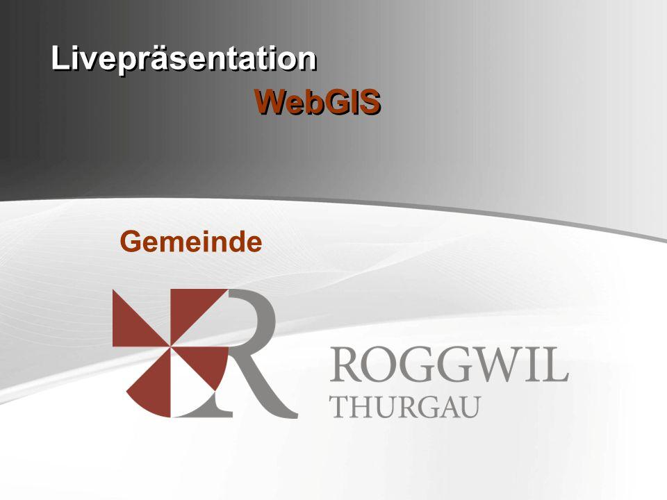 Livepräsentation WebGIS Gemeinde