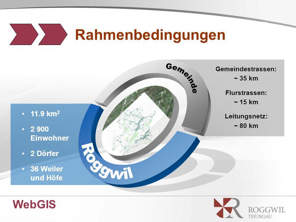 11.9 km 2 2 900 Einwohner 2 Dörfer 36 Weiler und Höfe Gemeindestrassen: ~ 35 km Flurstrassen: ~ 15 km Leitungsnetz: ~ 80 km.