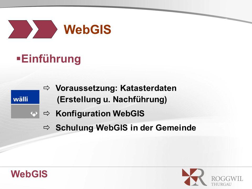 WebGIS SCENE WebGIS  Einführung  Voraussetzung: Katasterdaten (Erstellung u.