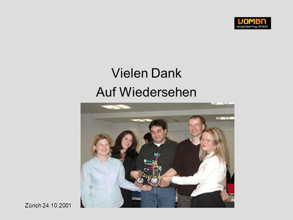 Zürich 24.10.2001 Vielen Dank Auf Wiedersehen
