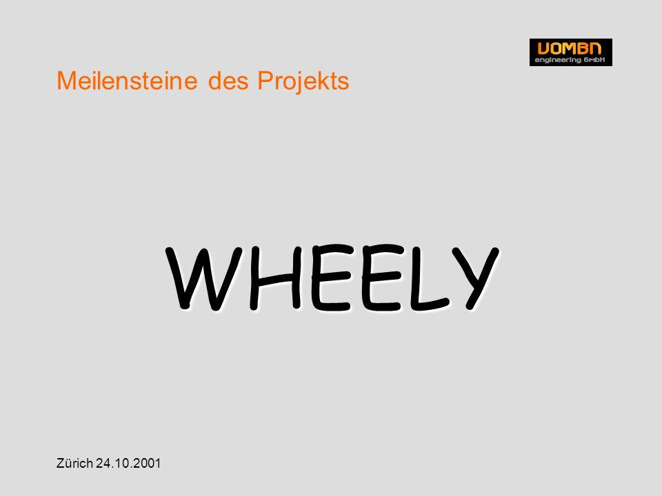Zürich 24.10.2001 Meilensteine des Projekts WHEELY