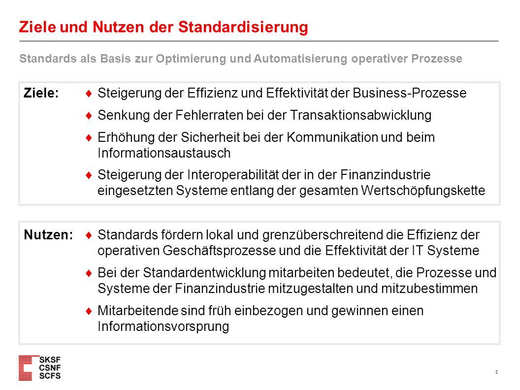 3 Ziele und Nutzen der Standardisierung  Steigerung der Effizienz und Effektivität der Business-Prozesse  Senkung der Fehlerraten bei der Transaktio