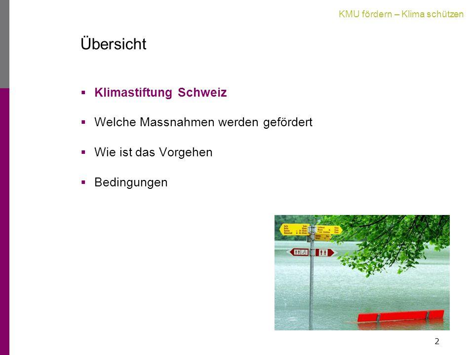 Übersicht  Klimastiftung Schweiz  Welche Massnahmen werden gefördert  Wie ist das Vorgehen  Bedingungen 2