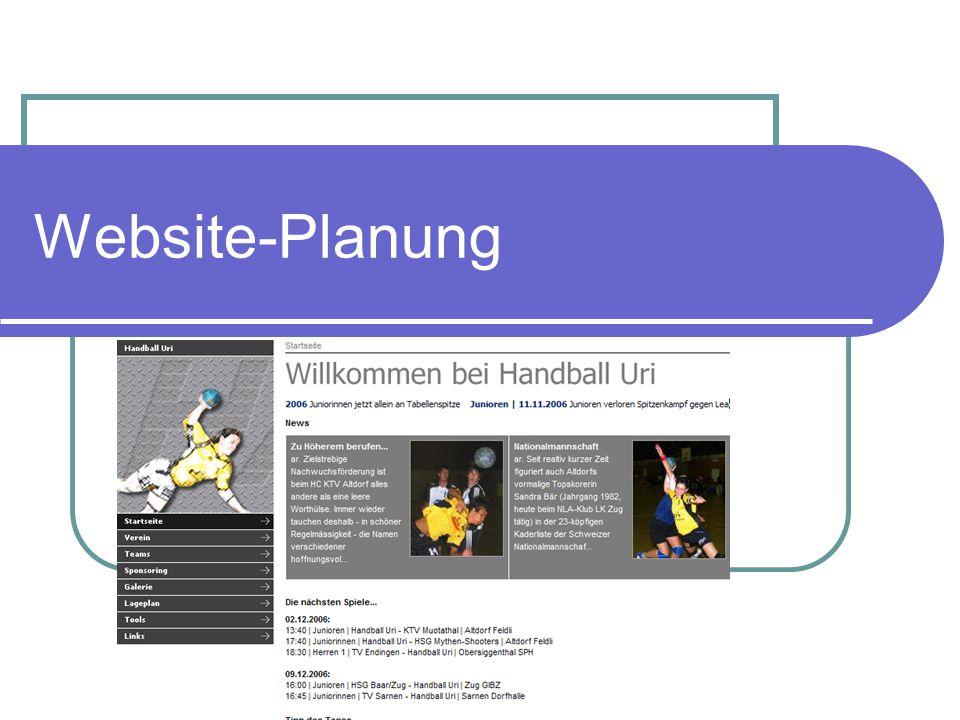 2007-12-09Website-Planung | FA 2 Vorüberlegungen Welches ist meine Zielgruppe.