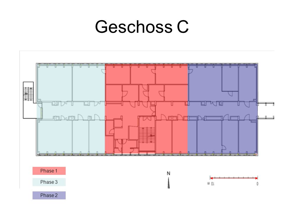 Geschoss C Phase 1 Phase 3 Phase 2