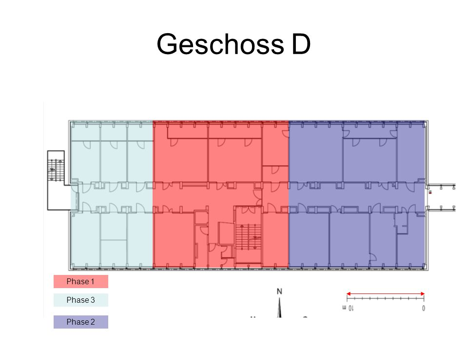 Geschoss D Phase 1 Phase 3 Phase 2