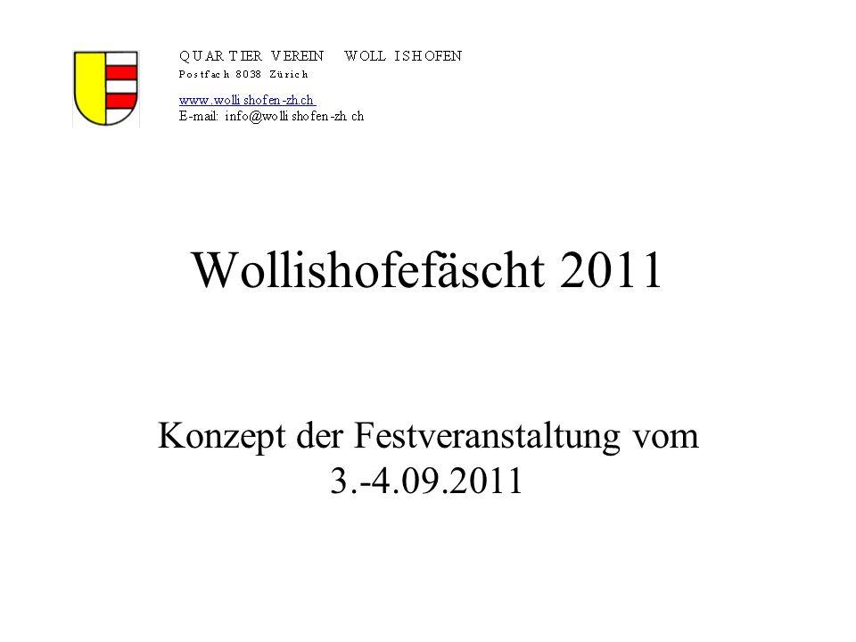 Wollishofefäscht 2011 Konzept der Festveranstaltung vom 3.-4.09.2011
