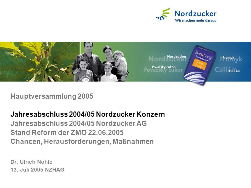2004 Schwerpunkte waren der Ausbau von Produkt- und Servicequalität, die Verringerung des Energieverbrauchs und Umweltauflagen.