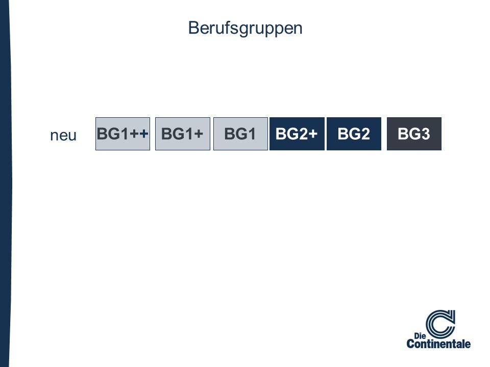 Berufsgruppen neu BG1++ BG1+BG1BG2+BG2BG3