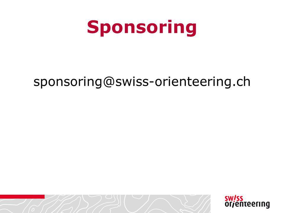 Sponsoring sponsoring@swiss-orienteering.ch