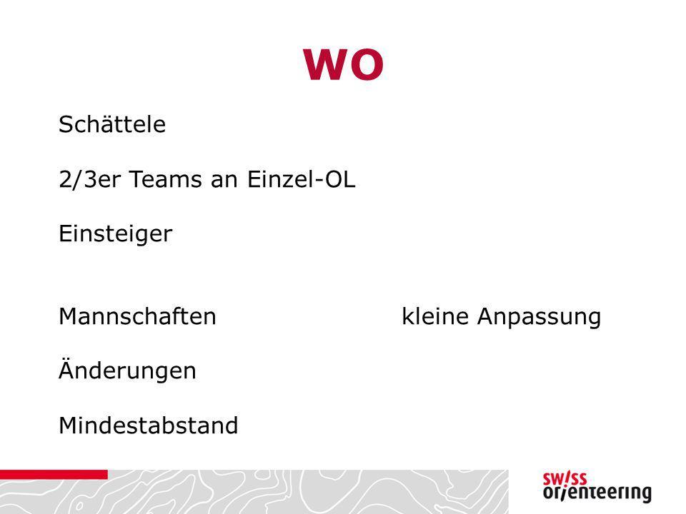WO Schättele 2/3er Teams an Einzel-OL Einsteiger Mannschaftenkleine Anpassung Änderungen Mindestabstand