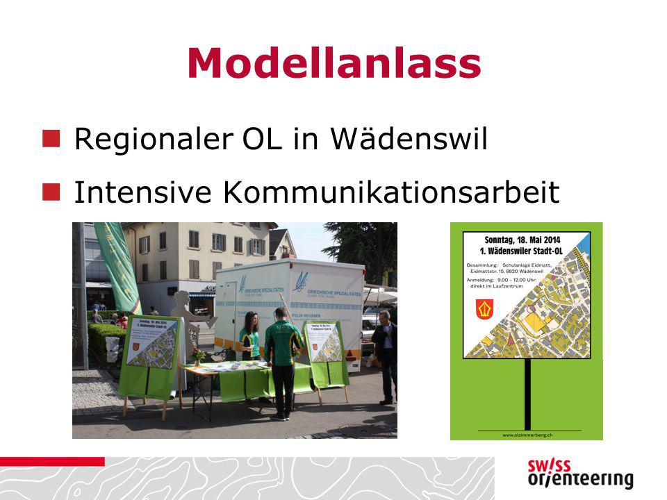 Modellanlass Regionaler OL in Wädenswil Intensive Kommunikationsarbeit