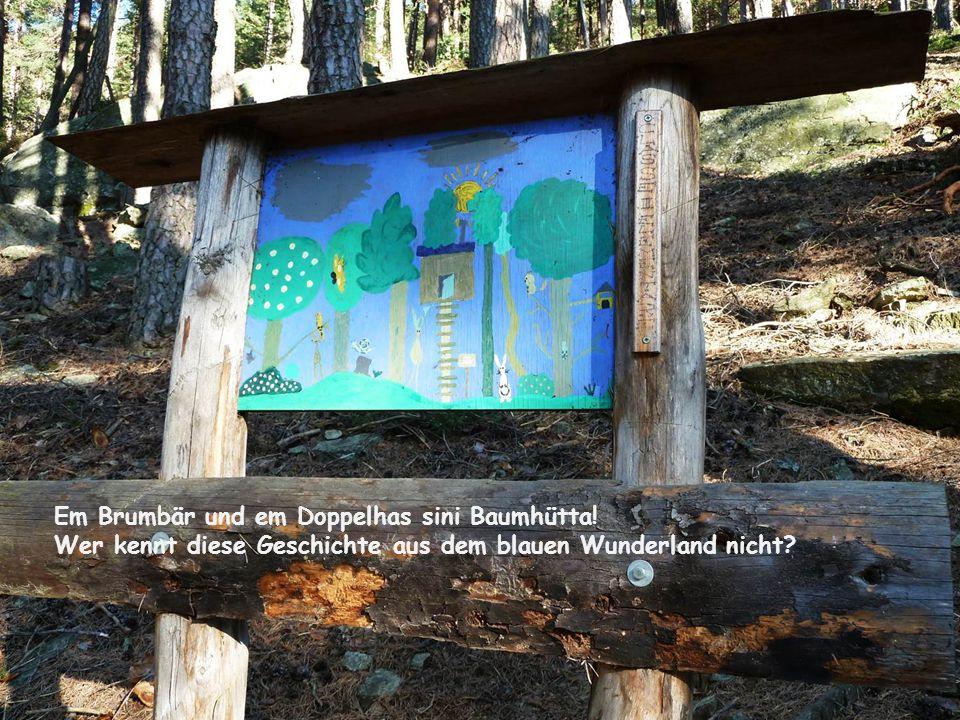 Em Brumbär und em Doppelhas sini Baumhütta.