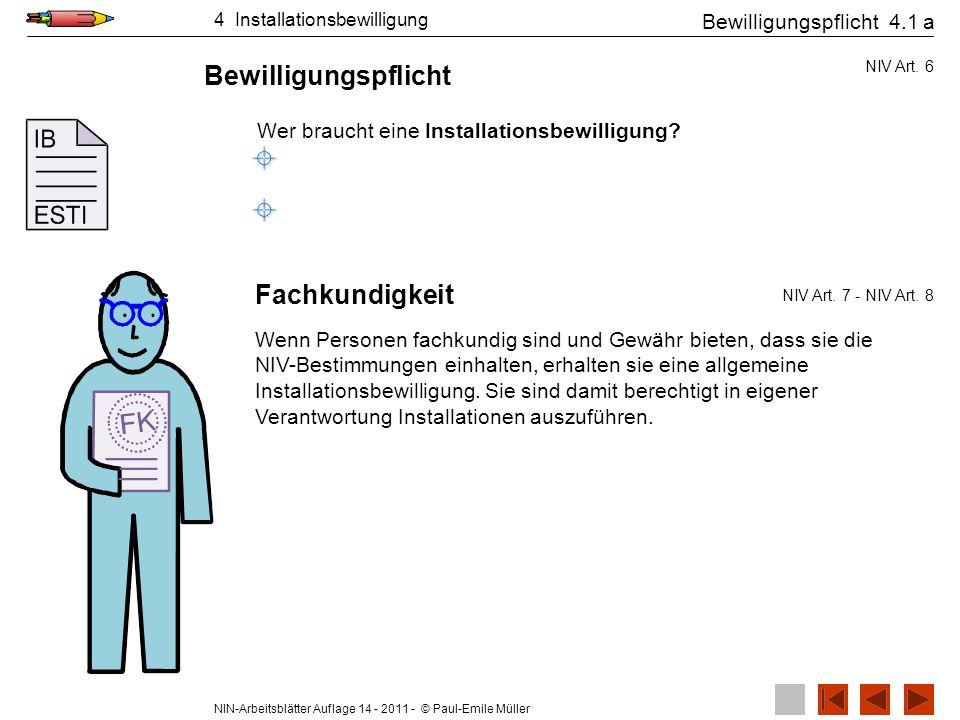 NIN-Arbeitsblätter Auflage 14 - 2011 - © Paul-Emile Müller Bilder zu Ausführen der Installationallgemeiner Arbeitsschutz 5.2 2.