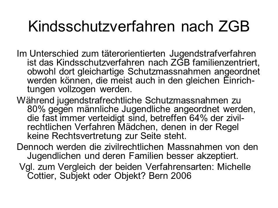 Aktueller Stand Die grösseren Deutschschweizer Kantone haben spezialisierte Jugendanwaltschaften eingerichtet, die in der Regel auch Fachpersonal für die Persönlichkeits- abklärung beschäftigen.