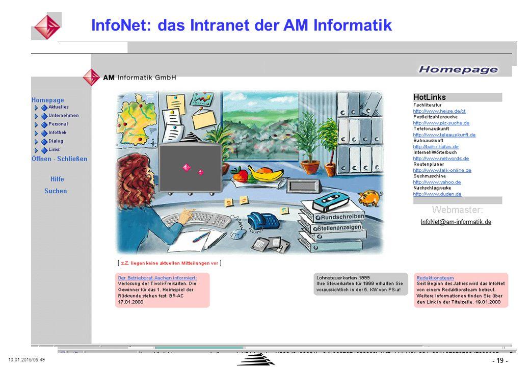 - 19 - 10.01.2015/05:50 InfoNet: das Intranet der AM Informatik