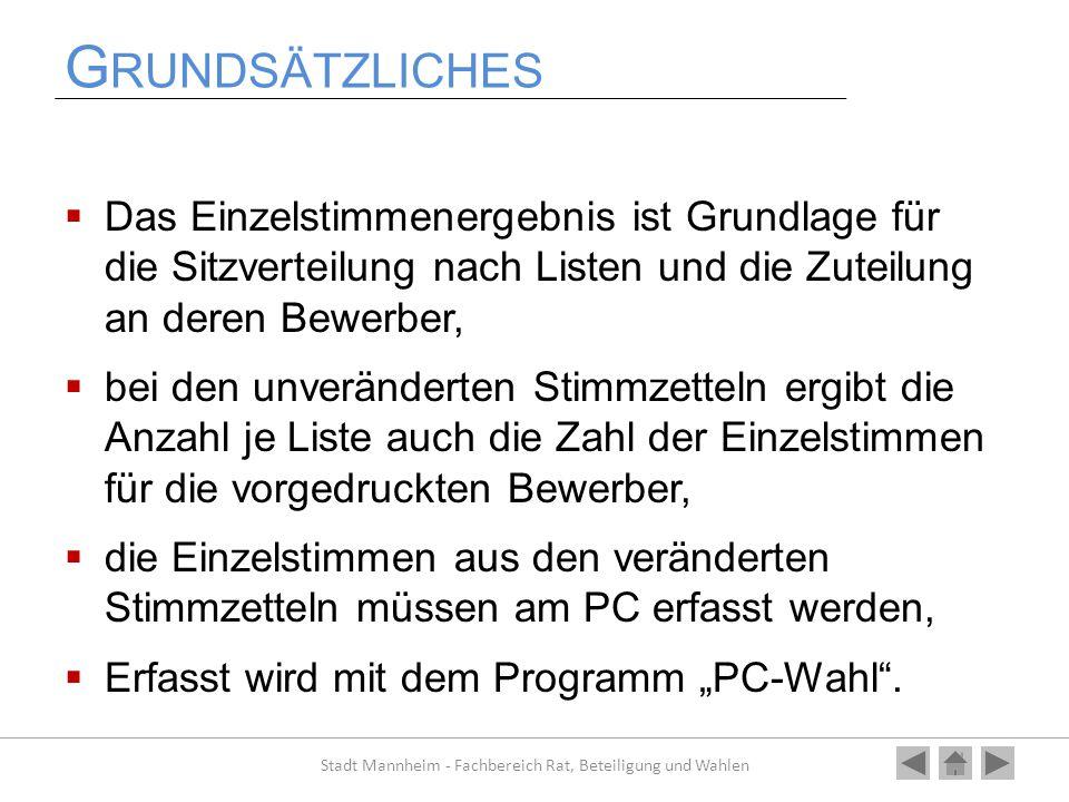 E RFASSUNG Nochmal Zurück ins Hauptmenü Weiter zum nächsten Kapitel Stadt Mannheim - Fachbereich Rat, Beteiligung und Wahlen Alles verstanden?