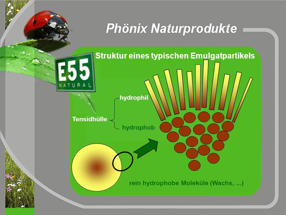 3. Phase: Zugabe von Trocknungshilfe Zusatz von Trocknerflüssigkeit (wässriges Emulgat)