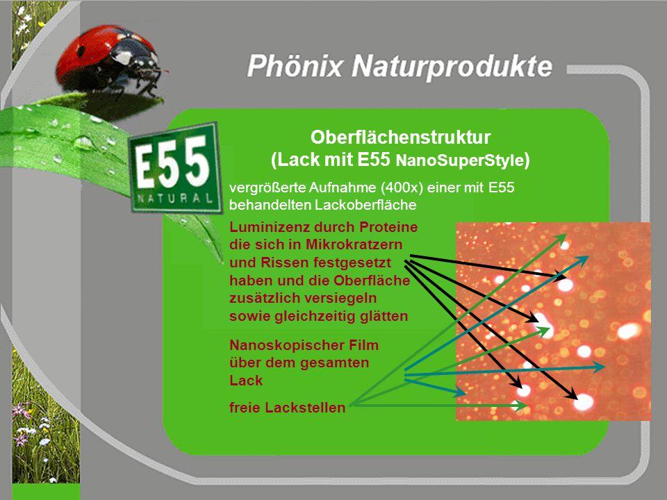 teilweise isolierende Schicht Reduzierte Haftung der Partikel Ladungstransfer Anti-Statik Effekt (mit E55 NanoSuperStyle ) Ladungstrennung elektrostat