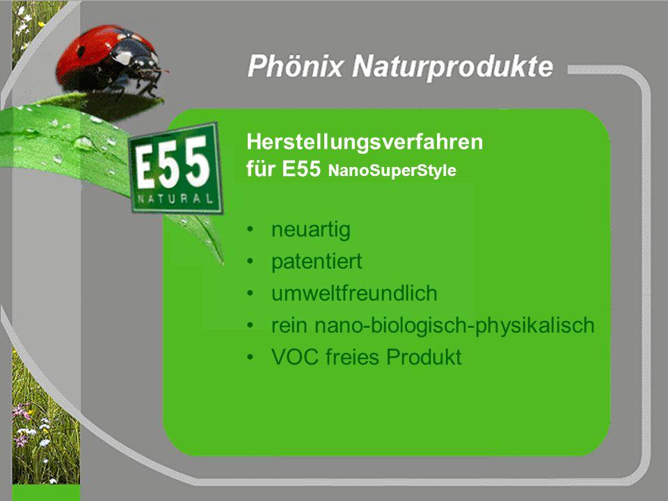 Das Naturprodukt E55 pro contra ja keine ja keine ja Pflanzen Trennung Transportkoste n nachwachsende Rohstoffe biologischer Abbau möglich biologische