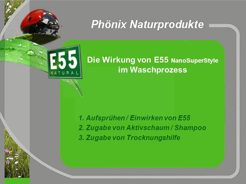 Feststoffanteile in E55 NanoSuperStyle Proteine Fettsäuren 1,825% 0,146% 0,876% 0,146% 1,022% 1,533% Palmitinsäure Magarinsäure Ölsäure Elaidinsäure L
