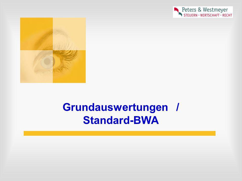 Grundauswertungen/ Standard-BWA