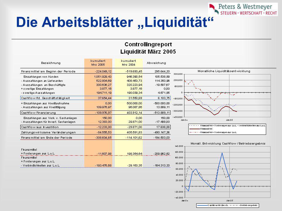 """Die Arbeitsblätter """"Liquidität"""""""