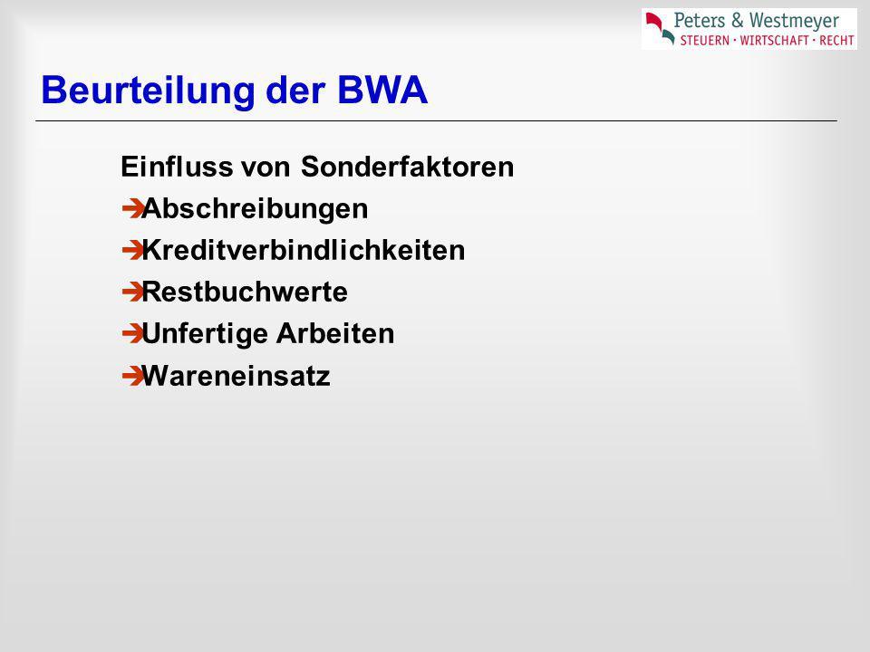 BWA-Planwerte