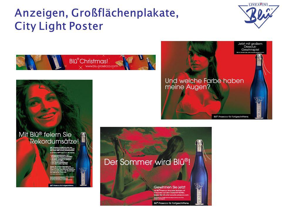 20 Anzeigen, Großflächenplakate, City Light Poster