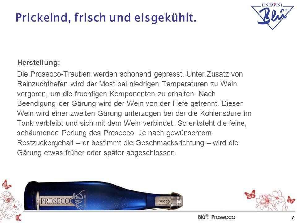 """8 Markt mit Zukunft Die Prosecchi haben sich nach dem großen Boom Ende der 90er Jahre einen festen Platz im """"Sparkling-Segment gesichert."""