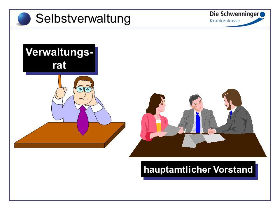 Verwaltungs- rat Verwaltungs- rat hauptamtlicher Vorstand Selbstverwaltung