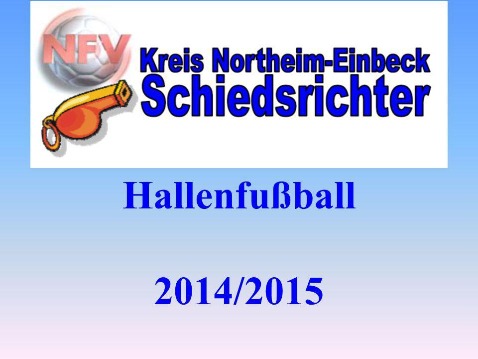 Ziffer 12.1 => Der Ball: Der Spielball muss in Größe und Gewicht dem normalen Spielball entsprechen (keine besonderen Hallenbälle, wie Soft- oder Filzbälle).
