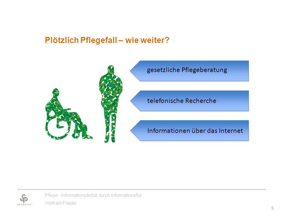 5 Pflege - Informationsdefizit durch Informationsflut Wolfram Friedel Plötzlich Pflegefall – wie weiter.