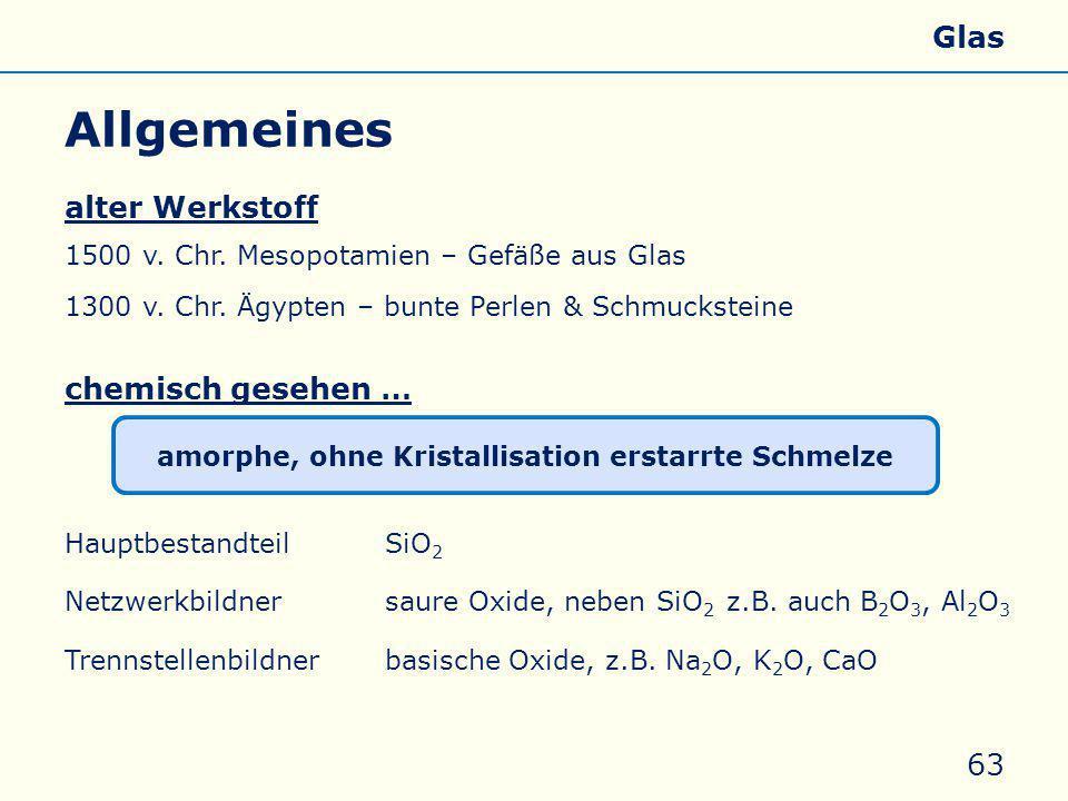 Allgemeines alter Werkstoff 1500 v.Chr. Mesopotamien – Gefäße aus Glas 1300 v.