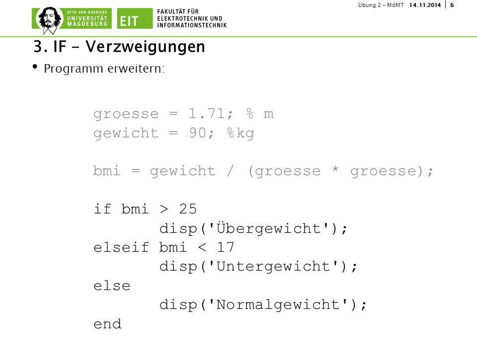 614.11.2014Übung 2 - MdMT Programm erweitern: 3.