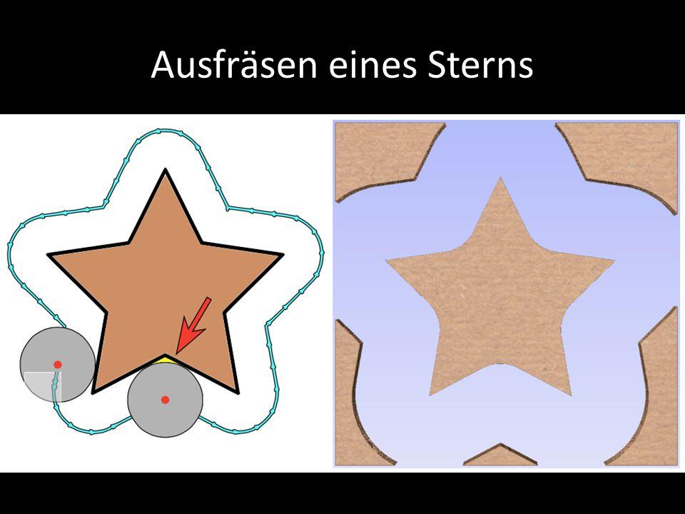 Ausfräsen eines Sterns d